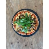 Pizza de champiñones y trufa
