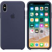 Coque en silicone Bleu Nuit iPhone X