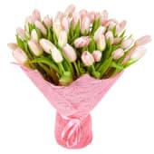 Buchet din 51 lalele roz