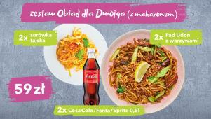 Zestaw ThaiWok obiad dla dwojga z makaronem