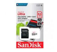 Memoria Microsd 64gb Sandisk Ultra Clase 10 De 80 Mb/s