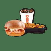 კომბო ინდაურის ბურგერი ბეკონით,ჩედარითTurkey&Bacon Burger With Cheddar