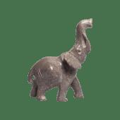 Natural Soapstone Elephant