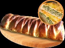 Кулеб'яка з сиром Фета та шпинатом (400г)