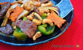 Beef with cashew nuts