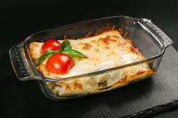 Lasagna cu somon şi spanac