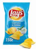 Чіпси картопляні зі смаком сметани та зелені Lay's (80/71г)