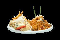 Combo 5 - chicharrón de pescado + arroz con mariscos