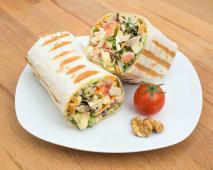 Wrap Quente | Frango, Maçã, Noz e Tomate