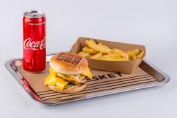 Тріпл чізбургер меню