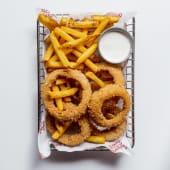 Half & half (aros y american fries)