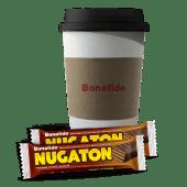 Café con leche chico + 2 Nugatón