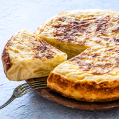 Tortilla De Patatas Con Beicon Y Queso