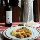 Sărmăluțe din orez și ciuperci, cu mămăliguță și ardei iute