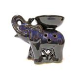 Vas Aroma Terapie Elefant Feng-Shui Albastru 10 cm