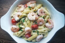Penne & shrimps