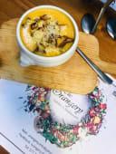 გოგრის კრემ-სუპი სოკოთი და პარმეზანით