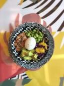 Bowl Avomango black salmone