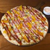 Pizza hawaiana BBQ Familiar