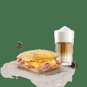 Combo Tostado Jamón & Cheddar + Café o jugo