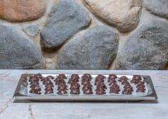 10Praline cioccolato fondente ricoperte di cioccolato di Modica