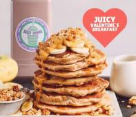 Juicy Valentine`s breakfast