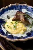 Язик з баношем та кефірним соусом (200г)