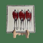 Soapstone Maasai Plate