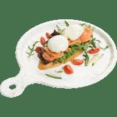 Яйцо пашот с сыром креметте на злаковом хлебе