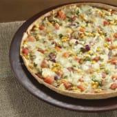 Pizza de vegetales sabrosos