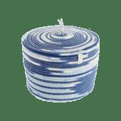 Ciotola in cotone con coperchio - blu
