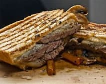 Grilled Beef Steak sandwich with Fries