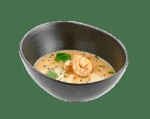 Суп мисо-сырный с креветкой и лососем (300 г)