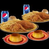 2 Menús Campero + 2 Flanes