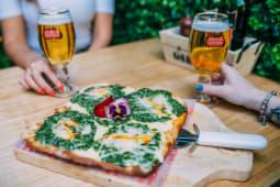 Pizza de espinaca (5 porciones)