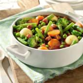 Menestra de verduras con jamón
