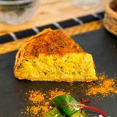 Quiche de Pollo al Curry