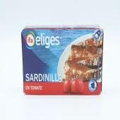 Sardinillas En Tomate Eliges 62 Gramos.