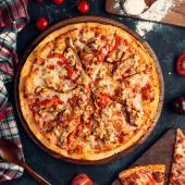Pizza pompeya BBQ crispy de masa madre