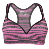 Seamless padded underwire sports bra