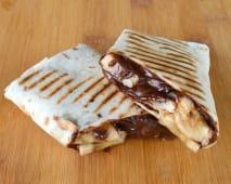 Wrap com Banana e Chocolate