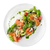 Салат зі слабосоленою сьомогою з крем-сиром (230г)