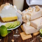 Paleta de pie de limón rellena de crema de limón