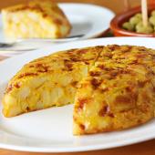 Tortilla tradicional con cebolla (mediana)