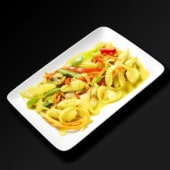 Calamars au curry jaune et lait de coco