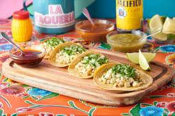Tacos con pechuga de pollo (4 uds.)