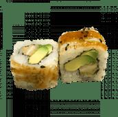 126. Uramaki California tempura pollo (8 uds)