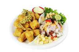Combo 1 - ceviche de pescado + chicharrón de pescado
