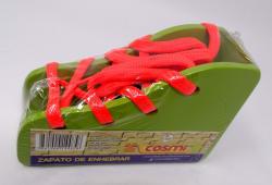 Didactico Zapato De Enhebrar