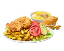 Pollo Broaster + Caldo de Gallina Menú